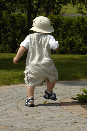 baby boy walking