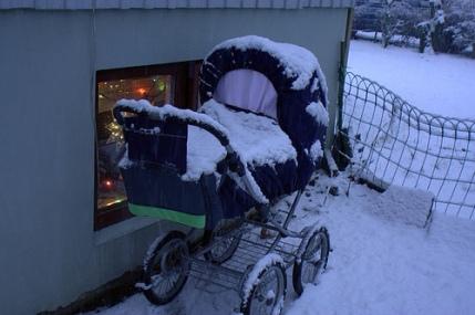bebê no frio